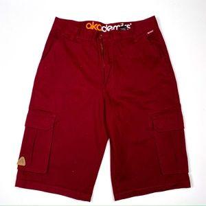 Burgundy Akademiks Cargo Shorts - 36 (Like New)